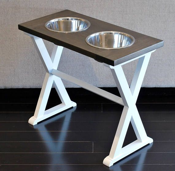 X-Large Tall - Dog Bowl Stand - Elevated Dog Bowls - Farmhouse Table - Raised Dog Feeder - Dog Food Stand - Great Dane - Mastiff - Deerhound