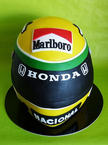 Ayrton Senna Helmet Cake