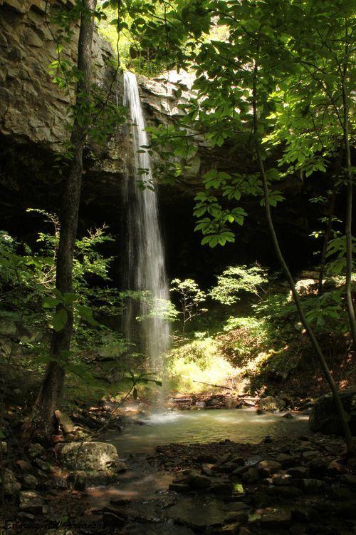 Rock Creek Bluff Falls - Big Piney Creek Wilderness Area - via ExploringNWArkansas.com