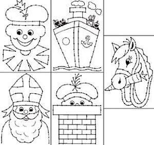 Borduurkaarten - Sint en Piet