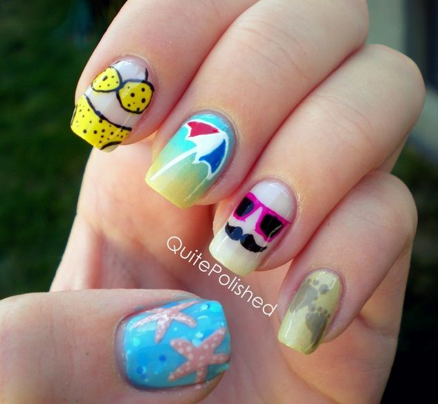17 Best Images About Summer Nails On Pinterest