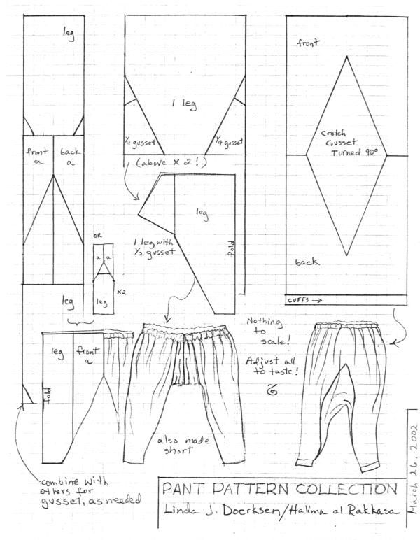 Pattern of sirwal pants