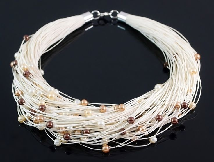 Necklace - glass pearls von Nor Art auf DaWanda.com