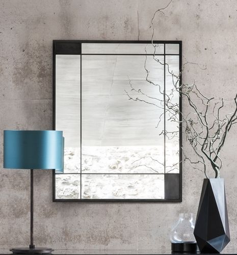 The Albany - Large, Elegant Mirror with Mondrian like lines. Perfect for the modern home.