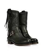 Leather Rockee Moto Boots from VALENTINO