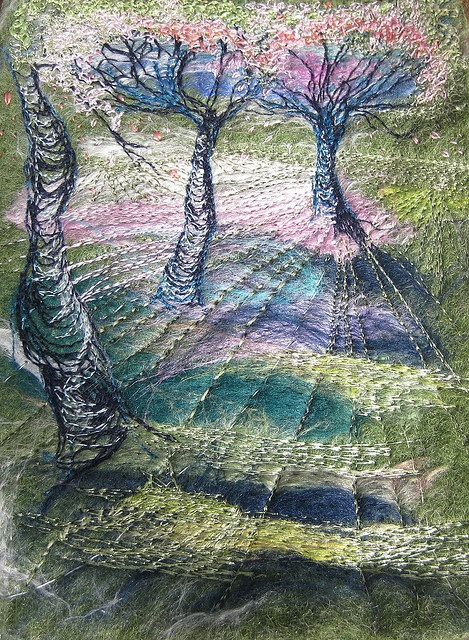 Trees In My Dreams by kayla coo, via Flickr - Fiber Art