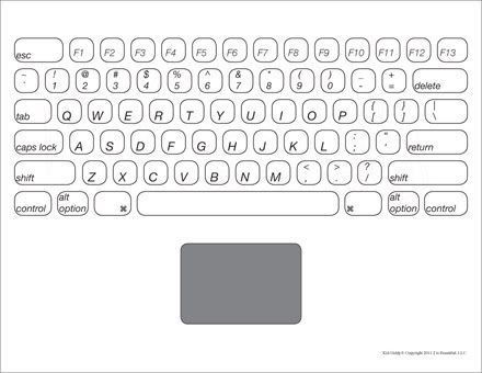 Learn the keys on a keyboard...Make your own laptop or