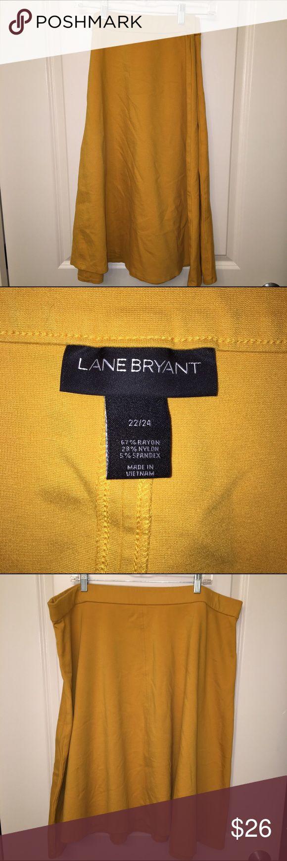 Gorgeous mustard skirt ! Lane Bryant mustard skirt. Size 22/24 Lane Bryant Skirts A-Line or Full