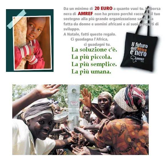 {#LaDiligenzaDelSapere: #VITA:} La borsa nera di anni fa. Ma l'#AMREF esiste! E #Africa ci culla da sempre! ►@Amref_Worldwide | #Sharendipity! http://amref.org/ #Africa