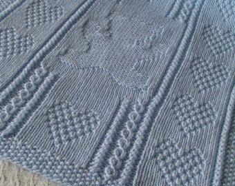 Maglia bambino coperta blu 2  coperta del bambino di Ednascloset