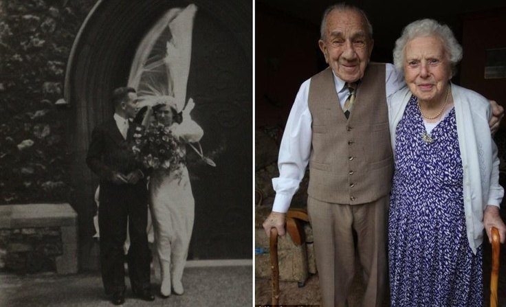 """Lionel, 99, and his wife Ellen Buxton, 100, met in March 1930, married on July 18th 1936 and have been inseperable ever since.    The couple, together a total of 82 years, have not spent more than one night apart.    Upon speaking of their marriage, Ellen says:    """"We have never been apart really and have never wanted anyone else. We have been married happily because we have been good friends as well as husband and wife.    We have always made sure we have had nice evenings out together…"""