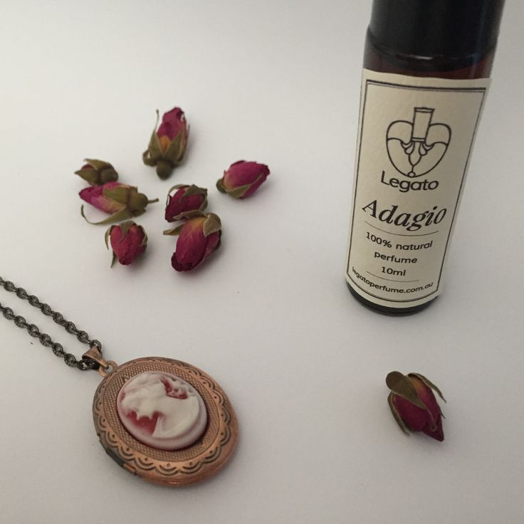 Spoil your sweetheart this Valentine's Day with Rose Scent Lockets and our heady and romantic Adagio perfume. Both contain heavenly organic Rose Otto essential oil. Buy now for Valentine's Day. www.legatoperfume.com.au