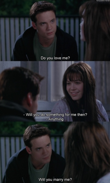 A Walk to Remember! My favorite show of all time!!  Every girl wants the bad boy that changes for her ((sigh))