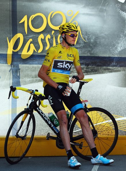 Chris Froome of Great Britain and Team Sky Procycling looks on ahead of stage twenty of the 2013 Tour de France, a 125KM road stage from Annecy to Annecy-Semnoz, on July 20, 2013 in Annecy, France.