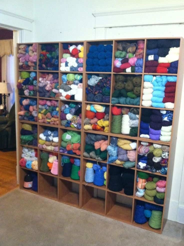 My Wall Of Yarn Is Finished How To Organize Yarn Craft