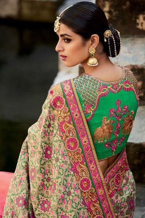 Wow! The details when viewed on close-up, and that very different, but amazing, saree fabric.