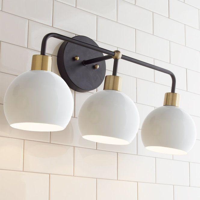 12 Brilliant Bathroom Light Fixture Ideas Bathroom Light Fixtures Vanity Lighting Young House Love