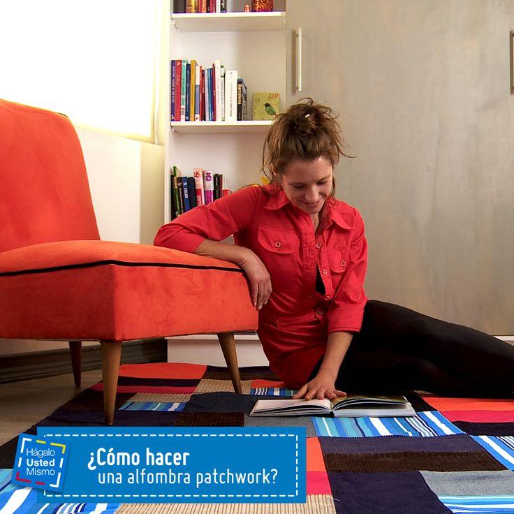 ¿Cómo hacer una alfombra patchwork? #HUM #DIY #Manualidades #Sodimac #Homecenter