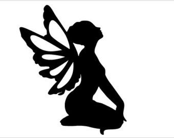 Fairy Silhouette 6 by DementiaActivities on Etsy