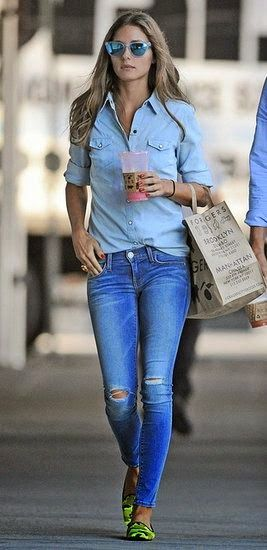 Luv to Look | Curating Fashion & Style: Street styles denim and denim with a pop of neon