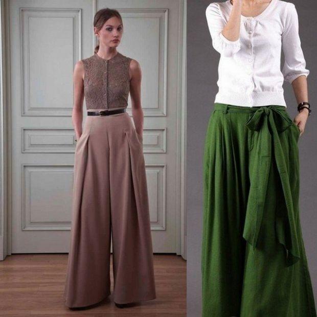 Как правильно носить юбку-брюки?