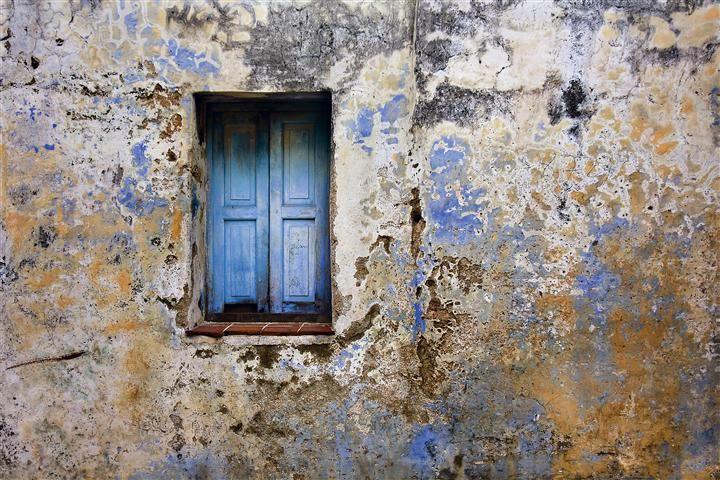 Original art for sale at UGallery.com | Blue Window, Camaguey, Cuba by Hal Robert Myers | photography |  http://www.ugallery.com/photography-blue-window-camaguey-cuba