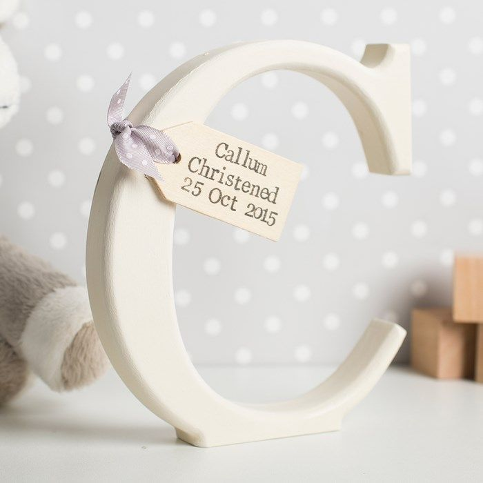 Personalised Wooden Ornamental Letter | GettingPersonal.co.uk