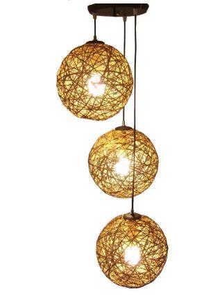 lampara colgante de hilo moderna de tres luces lamparas buenos aires