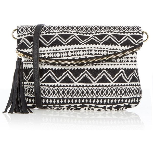 OASIS Aztec Cross-Body Bag ($25) ❤ liked on Polyvore featuring bags, handbags, shoulder bags, multi, cross body, aztec handbag, aztec print purse, crossbody purse and aztec print handbags