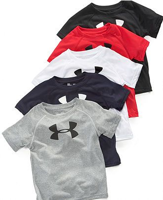 Under Armour Kids T-Shirt, Little Boys Big Logo Tee - Kids Toddler Boys (2T-5T) - Macy's $18