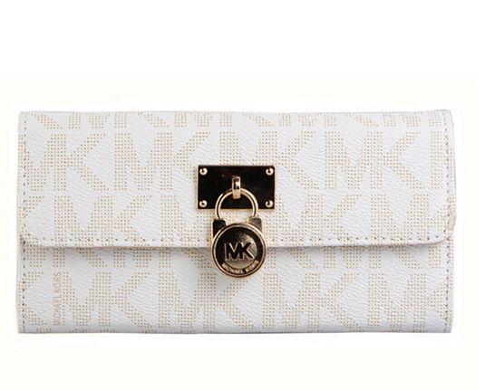 Michael Kors Lock Logo Large Platinum Wallet