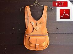 Nähen Muster-Leder-Rucksack. PDF auf DIN A2 und A4
