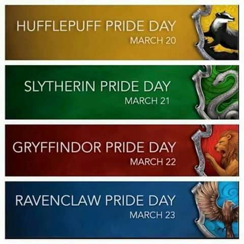 I just missed Hufflepuff pride day!!! At least today is Ravenclaw pride day...