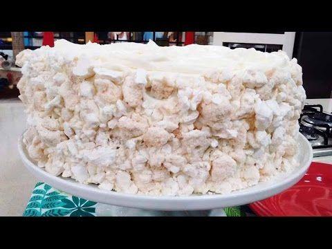 Torta chajá de duraznos en almíbar y dulce de leche - Recetas – Cocineros Argentinos