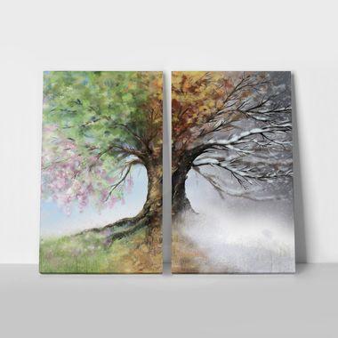 Δίπτυχος Πίνακας  4 SEASON TREE
