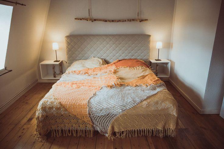 Quilts & Patchwork - Tagesdecke Überwurf Quilt aus Vintage Strick PEACH - ein Designerstück von TIPIYEAH bei DaWanda