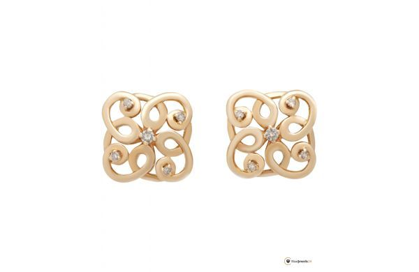 Rose gold earrings by GIANNI LAZZARO, diamonds, Diamantohrringe ,roségold, Ohrringe, trend style