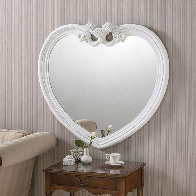 White Heart Shaped Mirror - 97 x 91cm