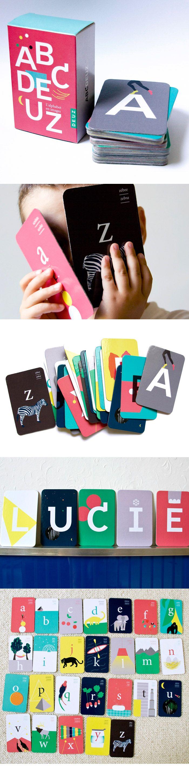 ABCDEUZ, 26 cartes bilingues illustrées | Deuz