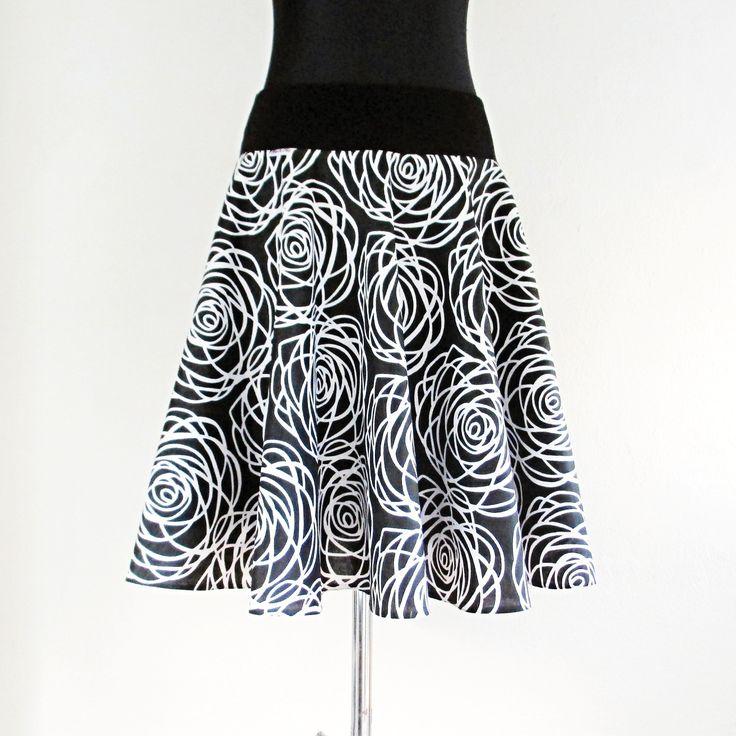 Tsunami sukně kolová Rose černá  XXL
