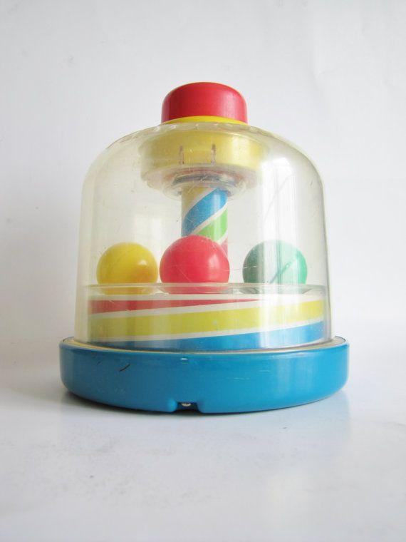 Playskool Toy Food : Vintage toy primary colors nursery decor playskool ball