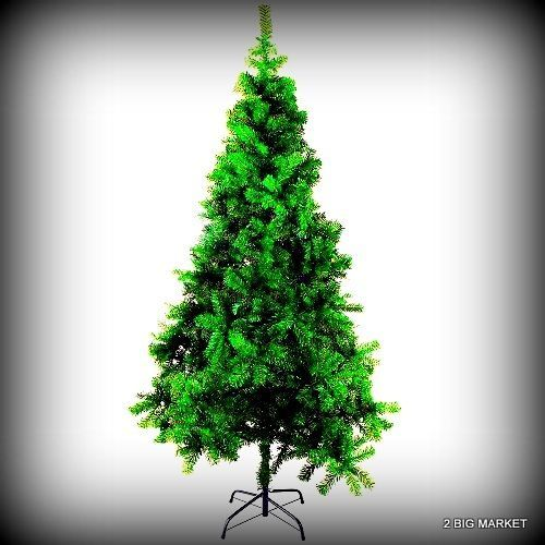 Charming Christmas Tree 7 Ft Tall Artificial Clear Metal Slim Stand Decor Luscious