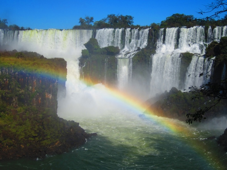 Iguazú Falls - bouncing rainbows.