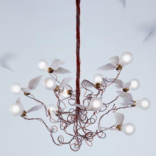One can dream: Birdie Chandelier Price: $2,390.00 http://www.ylighting.com/ingo-maurer-birdie-chandelier.html