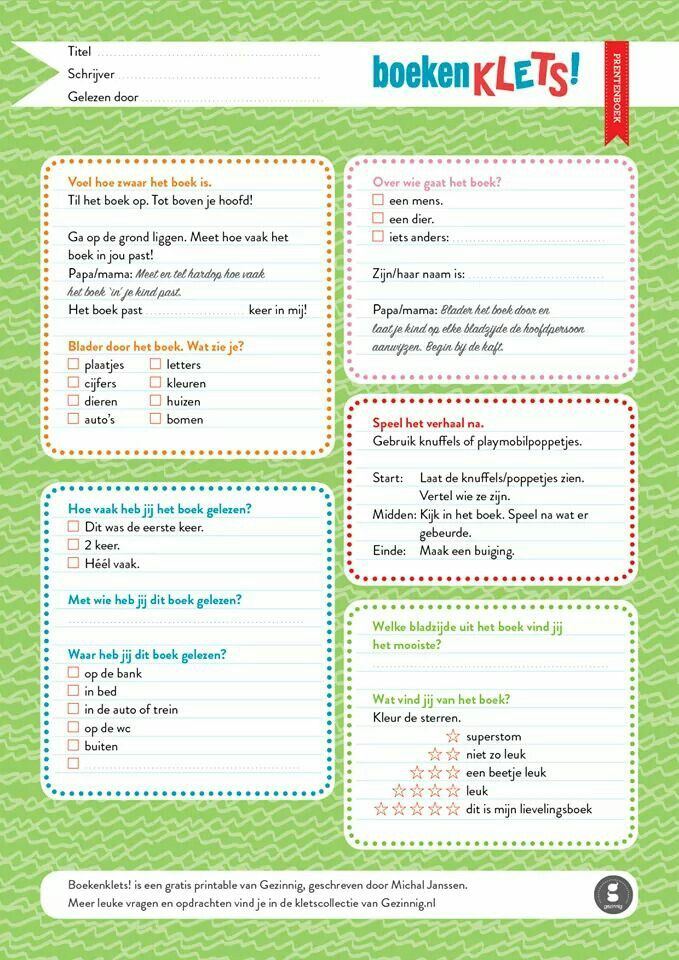 Op een andere manier een boekbespreking.  Kijk op www.gezinnig.nl