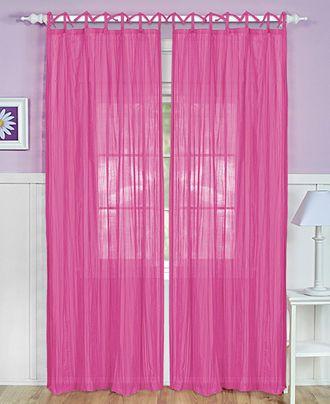 "Elrene Greta Crushed Sheer 50"" x 84"" Panel - Sheer Curtains - For The Home - Macy's"