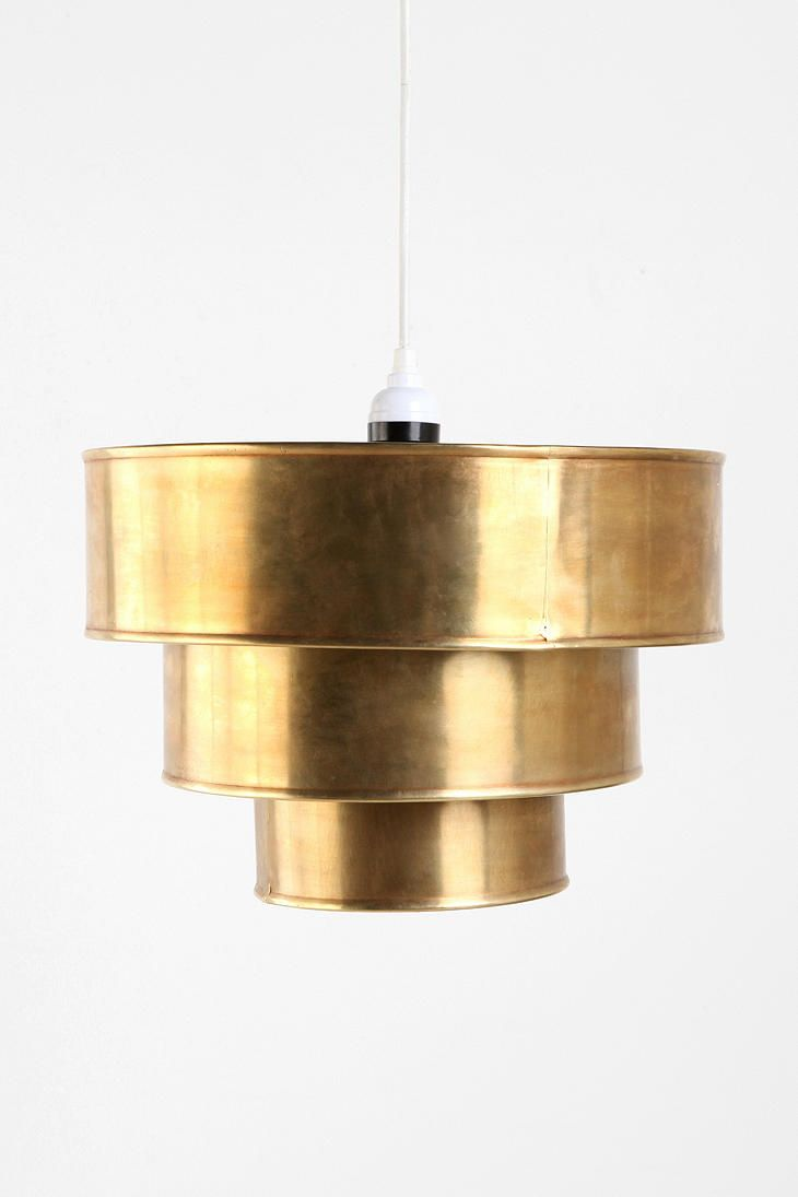 for your kitchen table? $64Pendants Lamps, Urbanoutfitters, Dining Room, Urban Outfitters, Lights Fixtures, Tiered Pendants, Pendants Shades, Pendants Lights, Brass Pendants