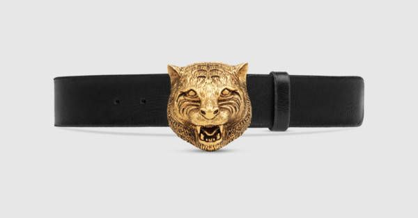 Leather belt with feline buckle   belts   Pinterest   Ceinture ... a2076ba3452