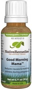 Wish I had known about this when I was pregnant with my girls.Native Remedies. Good Morning Mama™ Homeopathic remedy to relieve symptoms of morning sickness associated with pregnancy such as nausea