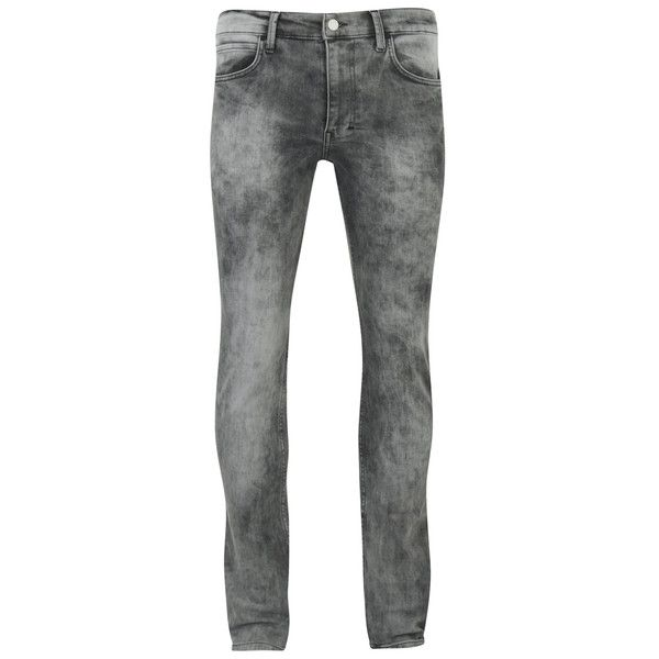 Religion Men's Skinny Jeans - Ice Wash (385 DKK) ❤ liked on Polyvore featuring men's fashion, men's clothing, men's jeans, men, men wear, grey, mens grey skinny jeans, mens super skinny jeans, mens jeans and mens skinny fit jeans